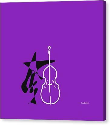 Dancing Bass In Purple Canvas Print by David Bridburg