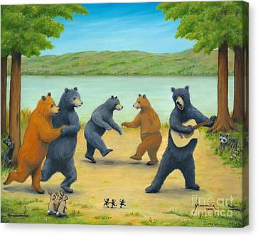 Dancing Bears Canvas Print by Jerome Stumphauzer