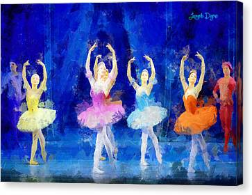 Dancing Beauty - Pa Canvas Print by Leonardo Digenio
