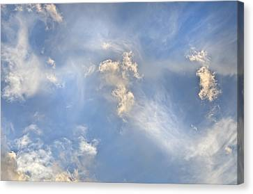 Canvas Print featuring the photograph Dancing Clouds by Wanda Krack