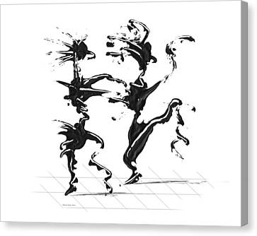 Canvas Print featuring the digital art Dancing Couple 4 by Manuel Sueess