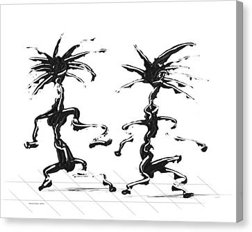 Canvas Print featuring the digital art Dancing Couple 5 by Manuel Sueess