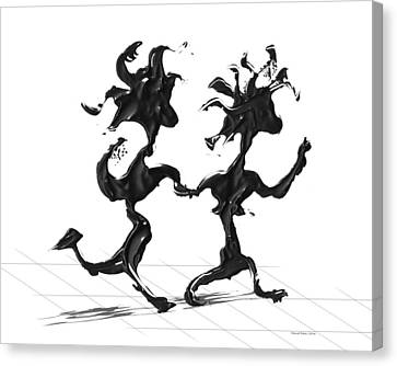 Canvas Print featuring the painting Dancing Couple 7 by Manuel Sueess