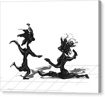 Canvas Print featuring the painting Dancing Couple 9 by Manuel Sueess