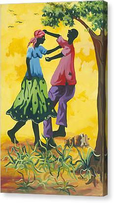 Dancing Couple Canvas Print by Herold Alvares