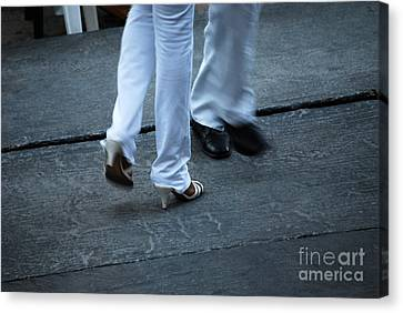 Dancing Feet At The Dominican Republic Son Party Number One Canvas Print