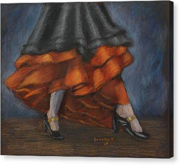 Dancing Feet Canvas Print by Quwatha Valentine