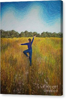 Dancing Field Canvas Print