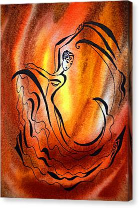 Dancing Fire I Canvas Print