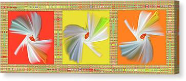 Dancing Flower Trio Canvas Print