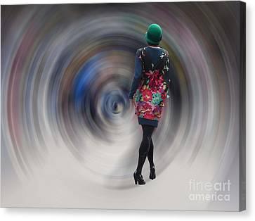 Chris Evans Canvas Print - Girl In The Vortex by Chris Evans