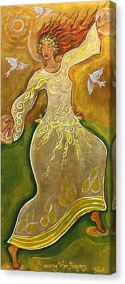 Dancing Her Prayers Canvas Print by Shiloh Sophia McCloud