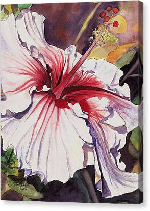 Dancing Hibiscus Canvas Print by Marionette Taboniar