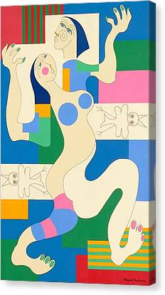 Dancing Canvas Print by Hildegarde Handsaeme