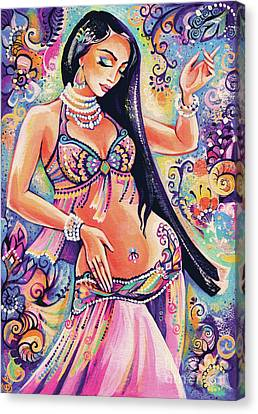 Dancing In The Mystery Of Shahrazad Canvas Print by Eva Campbell