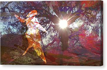 Dancing In The Park.. Canvas Print by Darla Nyren
