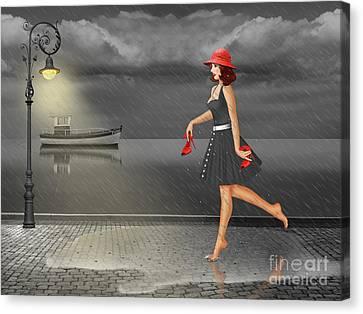 Dancing In The Rain Canvas Print by Monika Juengling