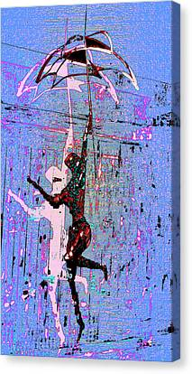 Dancing In The Rain Canvas Print by Tony Marquez