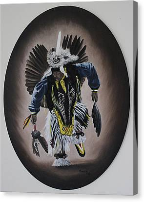 Canvas Print featuring the painting Dancing In The Spirit by Michael  TMAD Finney
