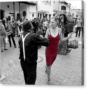 Dancing In The Street  2 Canvas Print by Daniel Gomez