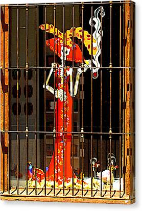 Dancing In The Window Canvas Print by Mexicolors Art Photography