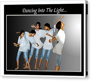 Dancing Into The Light Canvas Print by Richard Gordon