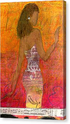 Dancing Lady Canvas Print by Angela L Walker