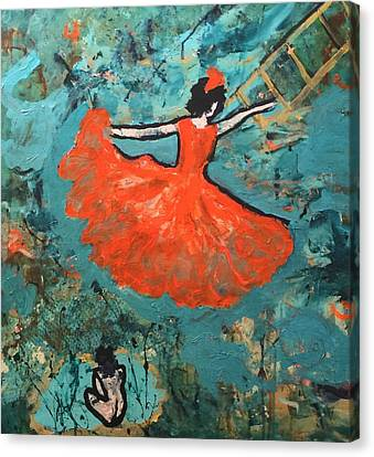 Dancing Lady Canvas Print by Annette McElhiney