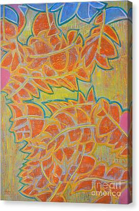 Dancing Leaves Canvas Print by Adel Nemeth