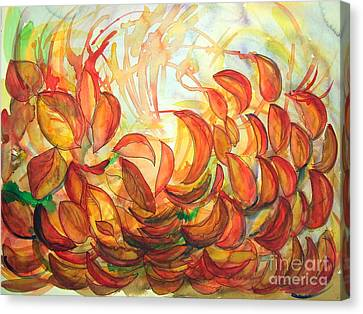 Dancing Leaves Canvas Print by Vanda Sucheston Hughes