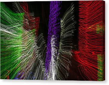 Dancing Lights 4 Canvas Print by Penny Lisowski