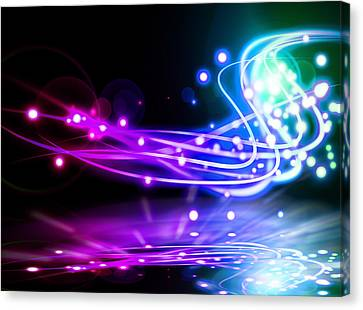 Dancing Lights Canvas Print by Setsiri Silapasuwanchai