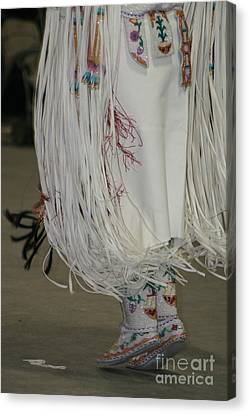 Canvas Print featuring the photograph Dancing Moccasins by Kate Purdy
