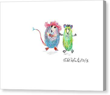Dancing Pickles Canvas Print