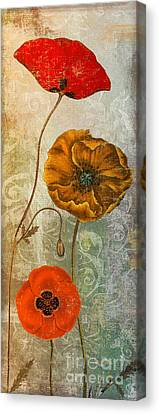 Dancing Poppies II Canvas Print by Mindy Sommers