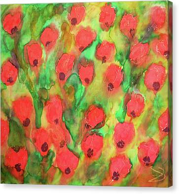 Dancing Poppies Canvas Print by Maja Smid