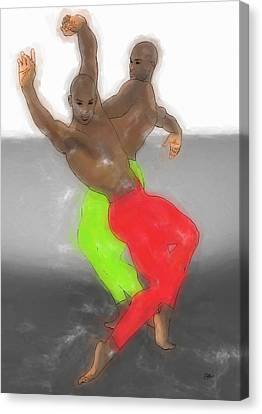 Dancing Samba Canvas Print by Quim Abella
