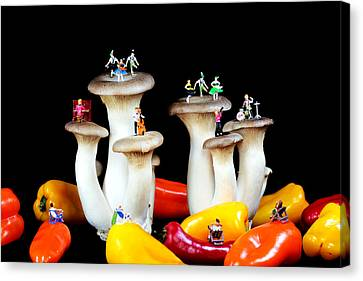 Dancing Show On Mushroom Canvas Print by Paul Ge
