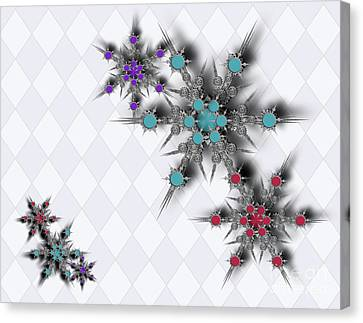 Dancing Snowflakes Canvas Print