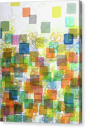 Dancing Squares Canvas Print by Heidi Capitaine
