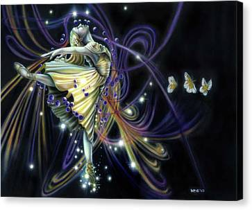 Dancing Stars Canvas Print
