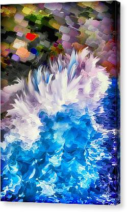 Canvas Print featuring the digital art Dancing Swells by Pennie  McCracken