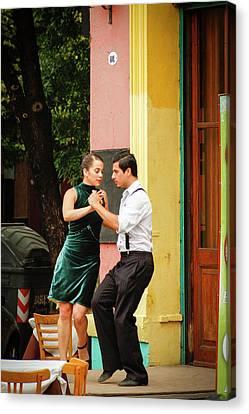 Dancing Tango Canvas Print by Silvia Bruno