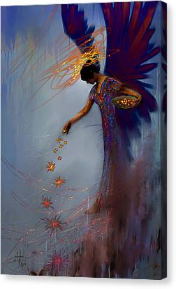Dancing The Lifes Web Star Gifter Does Canvas Print by Stephen Lucas