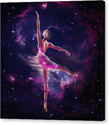 Dancing The Universe Into Being 2 Canvas Print by Jane Schnetlage