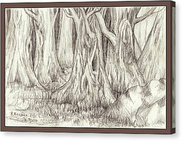 Dancing Trees Canvas Print by Ruth Renshaw
