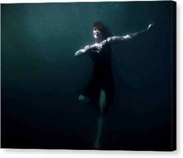 Canvas Print featuring the photograph Dancing Under The Water by Nicklas Gustafsson