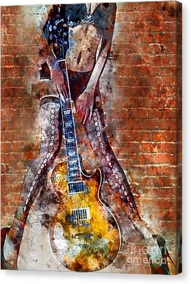 Dancing With Les Paul Canvas Print by Jon Neidert