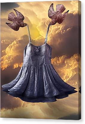 Dancing With The Stars Canvas Print by Larry Butterworth