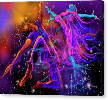 Dancing With The Universe Canvas Print by DC Langer